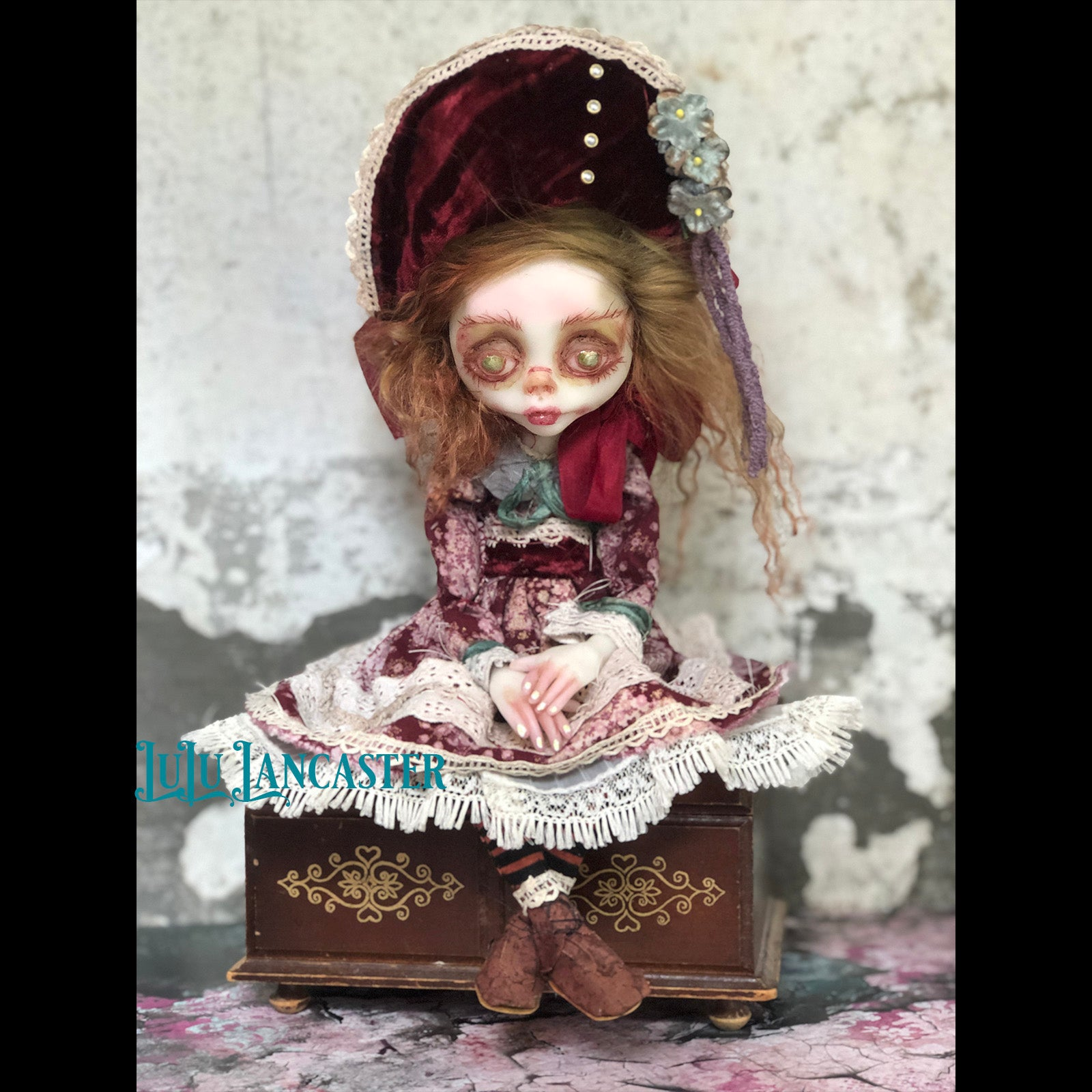 Ruthie Creepy sad sitter OOAK Art Doll LuLu Lancaster