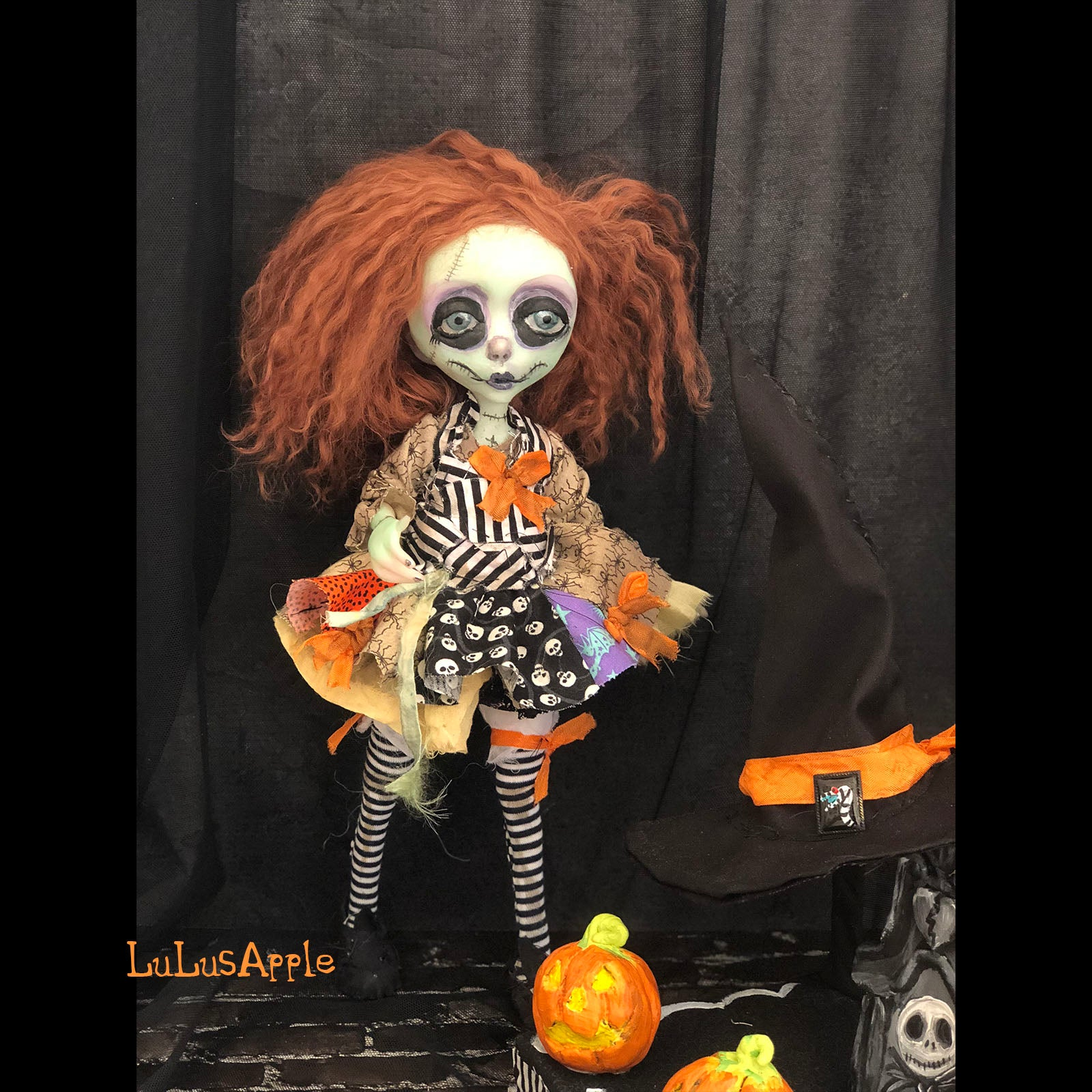Sally the Witch Halloween Mashup LuLusApple OOAK Art Doll