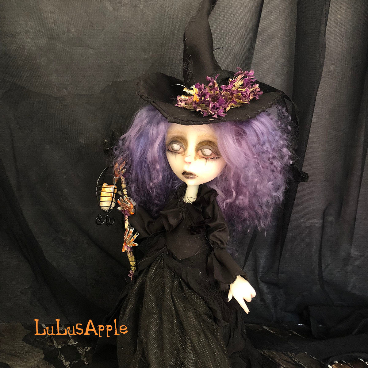 Selby the Witch Victorian Halloween OOAK Art Doll LuLusApple