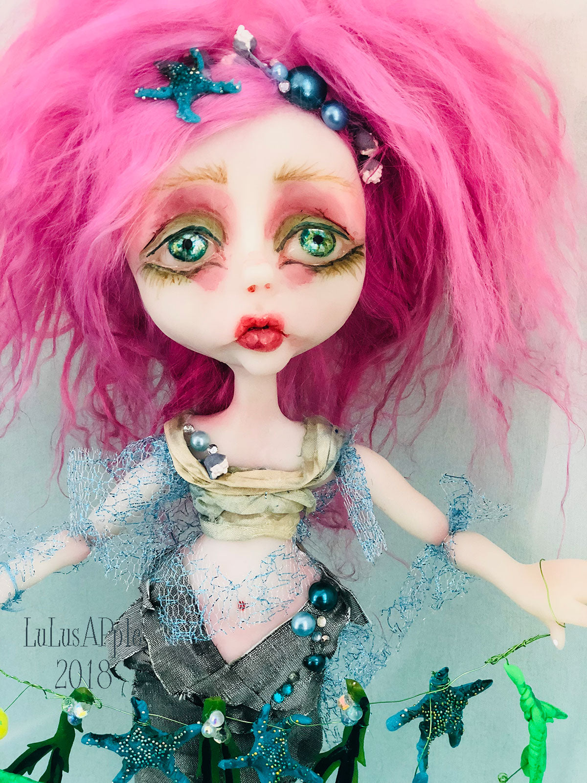 Shiraz Mermaid under the sea sadness OOAK Art Doll