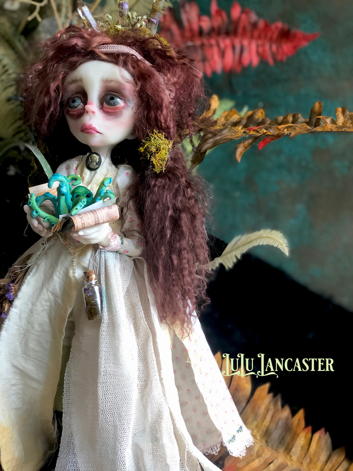 Spen of Moss End Crystal WItchery OOAK Art Doll LuLu Lancaster
