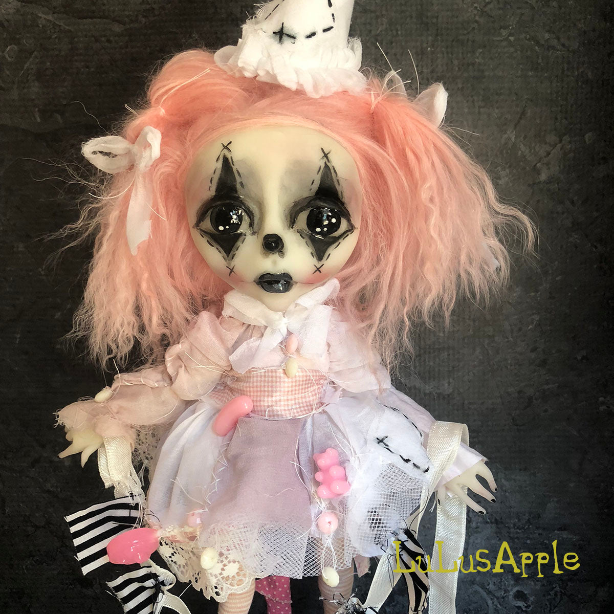 Stitches The Clown Circus sadness OOAK LuLusApple Art Doll