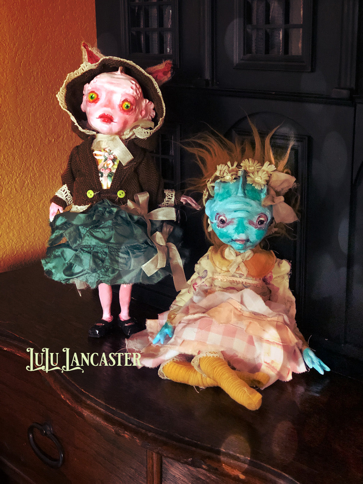 Marley Swamp creature Monster Mashup OOAK Art Doll LuLu Lancaster