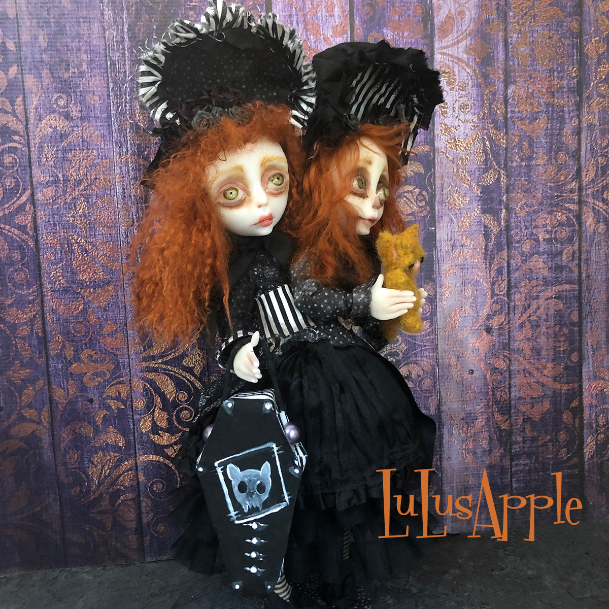 Tanith and Tiff conjoined spooky twins OOAK Art Doll LuLusApple