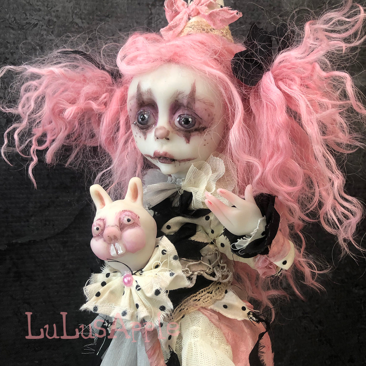 Tatty Scatty Poupee the Clown Dark Cirque OOAK Art Doll LuLusApple