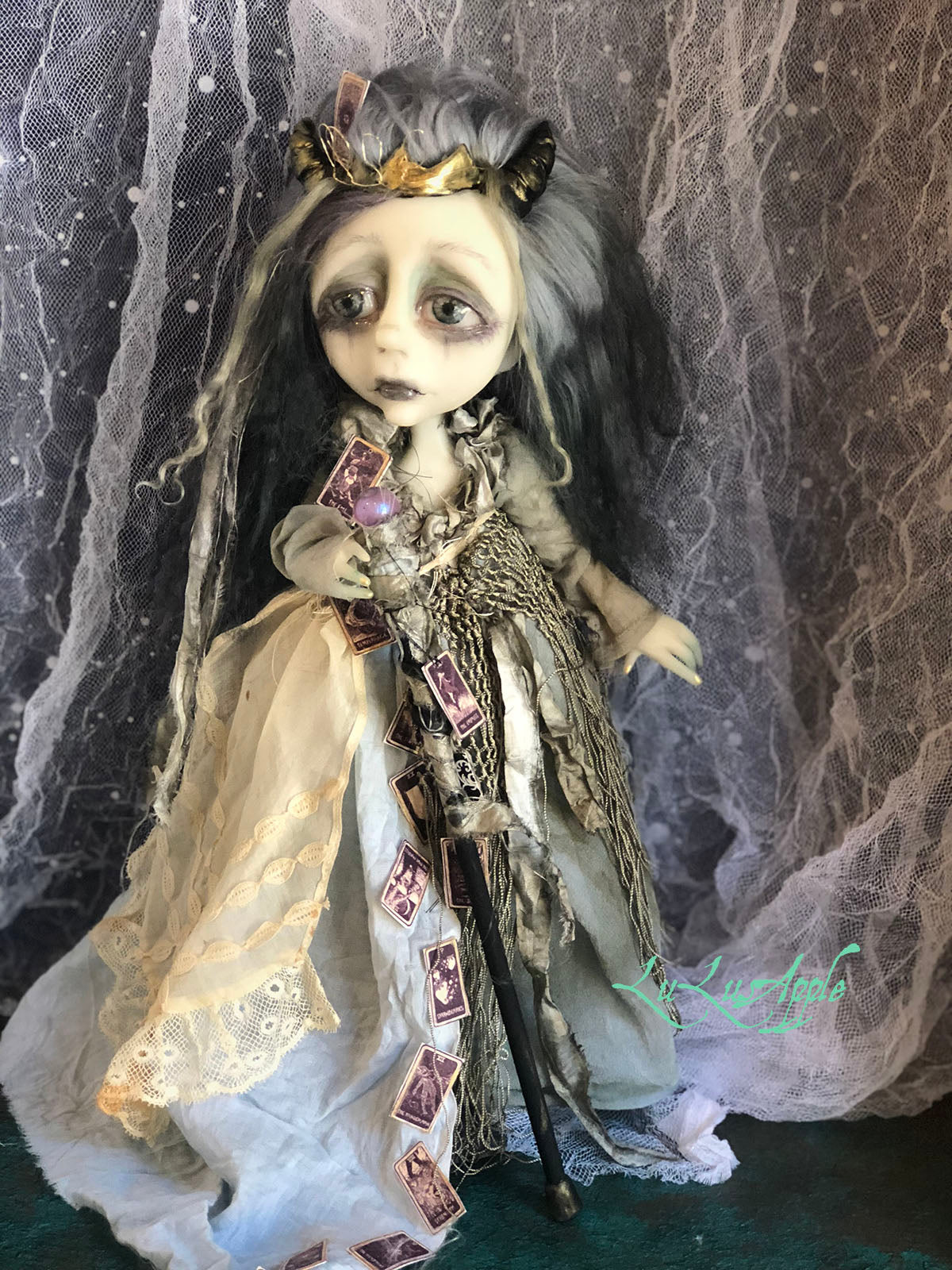 Temperance OOAK Tarot Horned Witch LuLusApple Art Doll