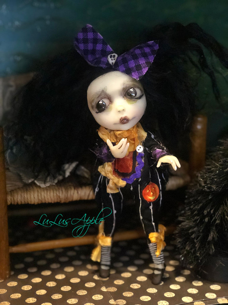 Tiny Tina Ghoulia Mini OOAK LuLusApple Art Doll