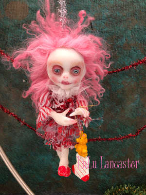 Tippin Mini Hanging Elf Christmas Art Doll Ornament Original LuLu Lancaster