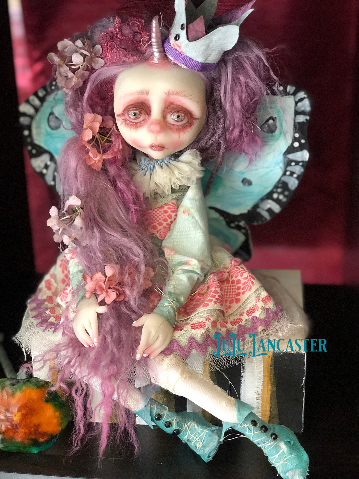 Tovey the Unicorn Butterfly OOAK Art Doll LuLu Lancaster