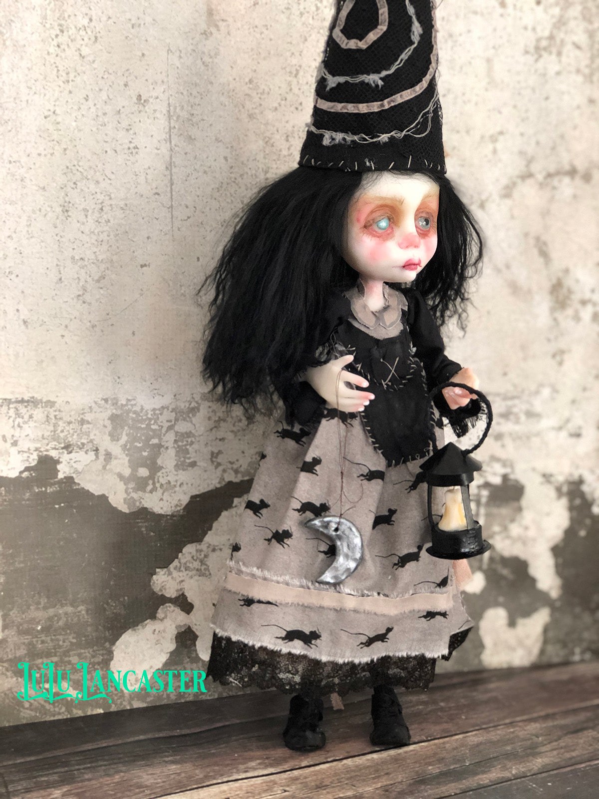 Wheatleigh the Witch  OOAK Art Doll LuLu Lancaster