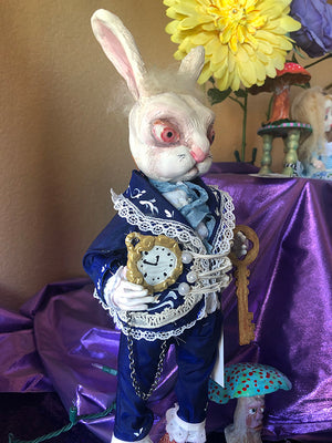 White Rabbit OOAK Art Doll LuLu Lancaster