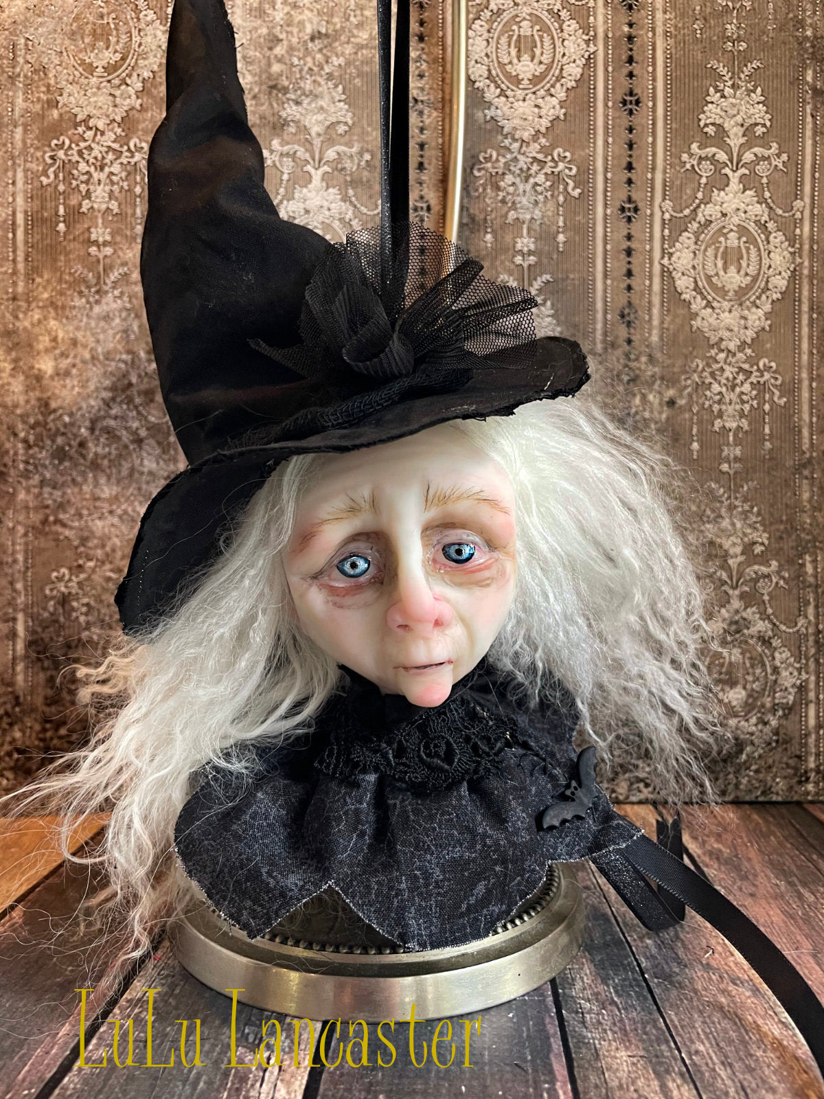 Glenice the Wicked Witch Head Ornament Original LuLu Lancaster Art Doll
