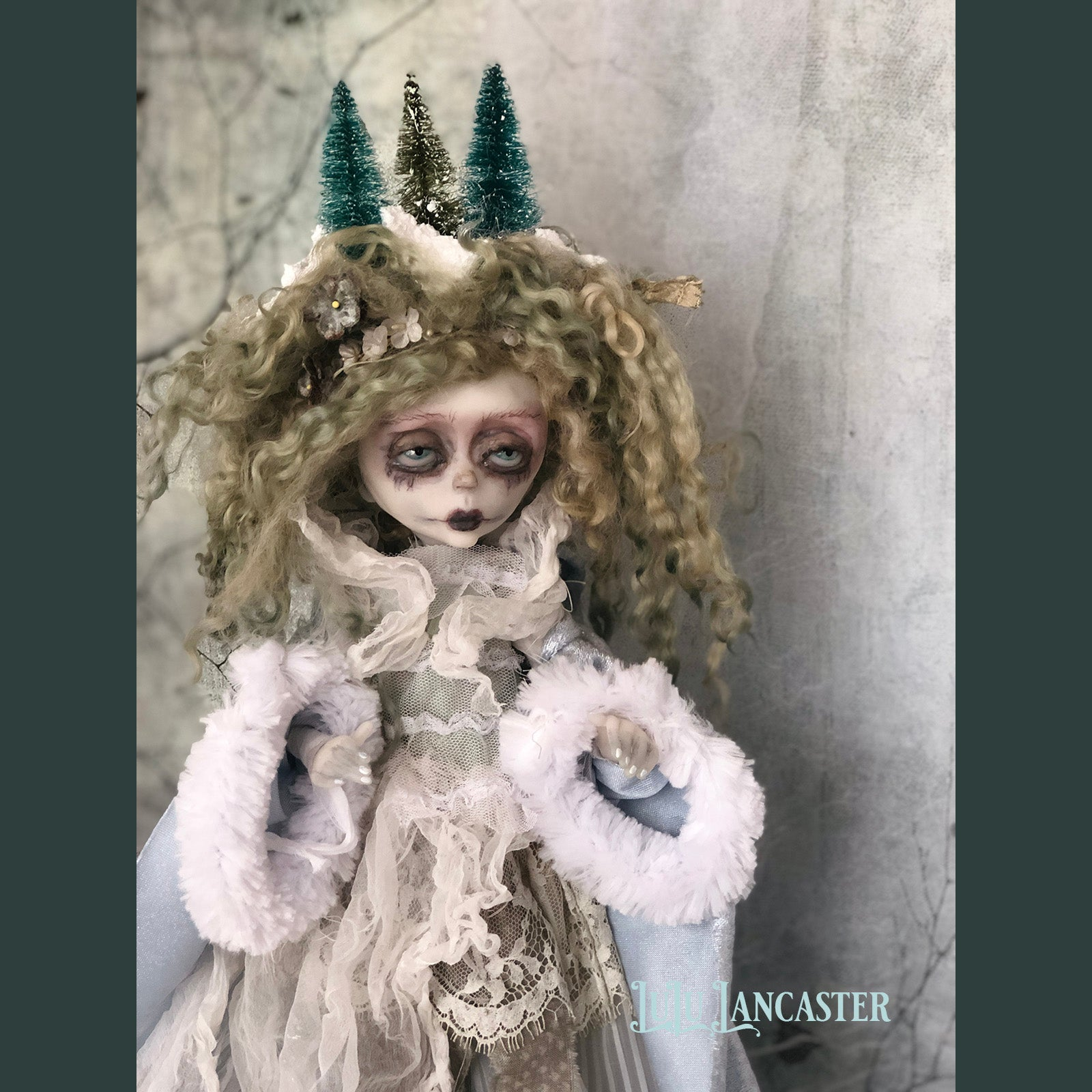 Winter Victorian Christmas OOAK Art Doll LuLu Lancaster