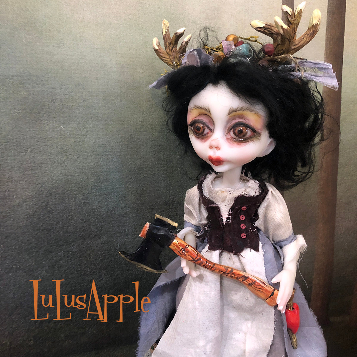 Snow White of the woods OOAK Art Doll LuLusApple