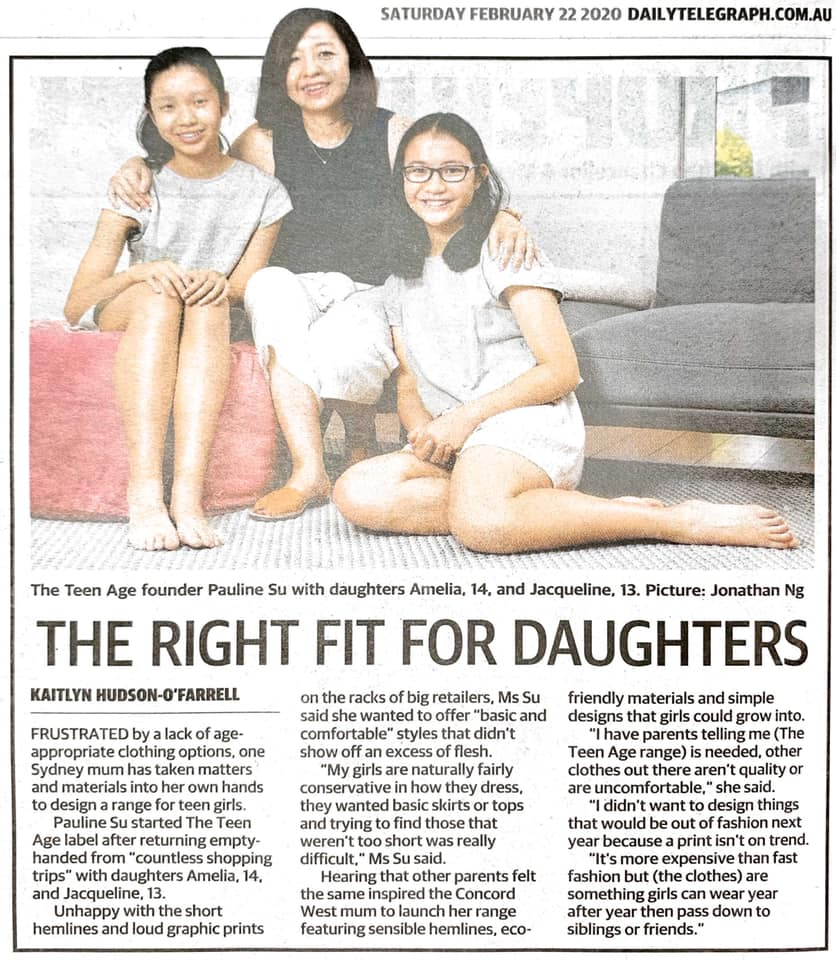 Daily Telegraph The Right Fit for Daughters Article