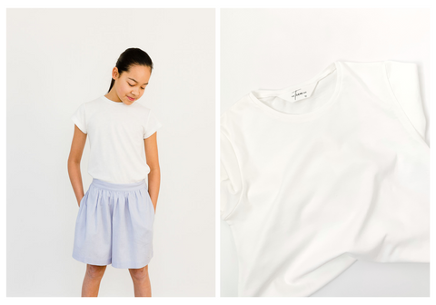 Coco Basic White Tee by The Teen Age