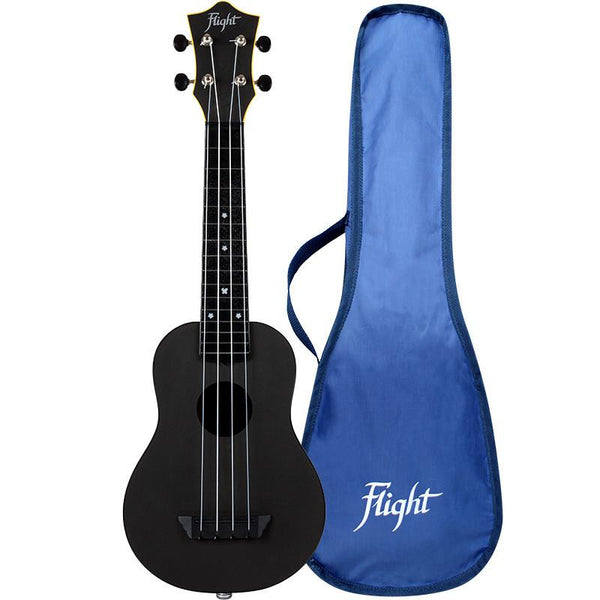 Flight Travel Series Sopran Electro Acoustic, Schwarz (TUS35E) mit Gigbag