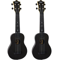 Flight Travel Series Sopran Electro Acoustic, Schwarz (TUS35E)