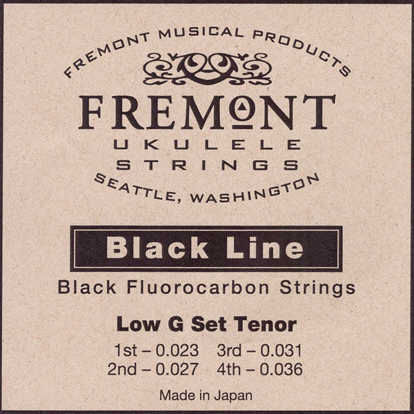 Fremont Ukulele Strings Black Low G Tenor
