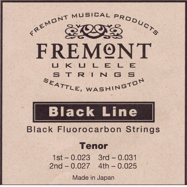 Fremont Ukulele Strings Black Fluorocarbon Tenor