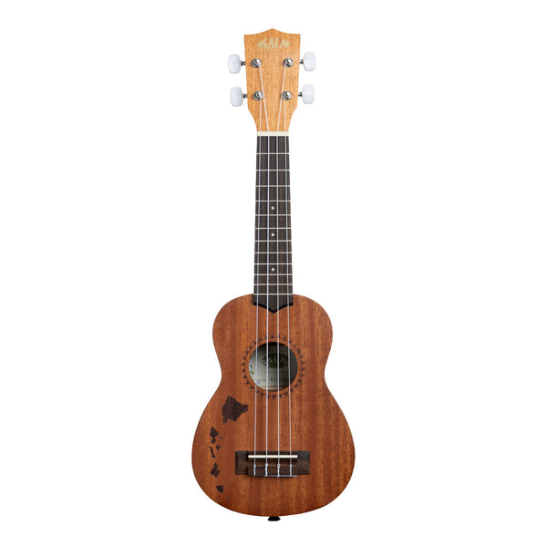 Kala Satin Mahogany Sopran Hawaiian Islands (KA-15S H1)