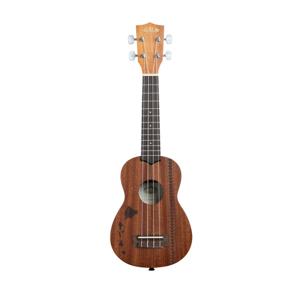 Kala Satin Mahogany Sopran Hawaiian Islands (KA-15S H2) front