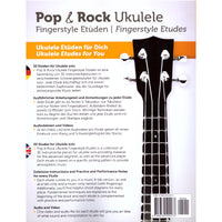 Pop- und Rock Ukulele Fingerstyle Etüden (Deutsch / English) back