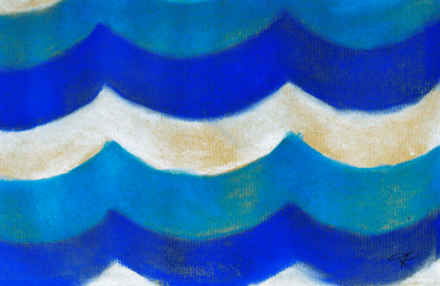 Drawing blue. Ripples - NOBIG.ART