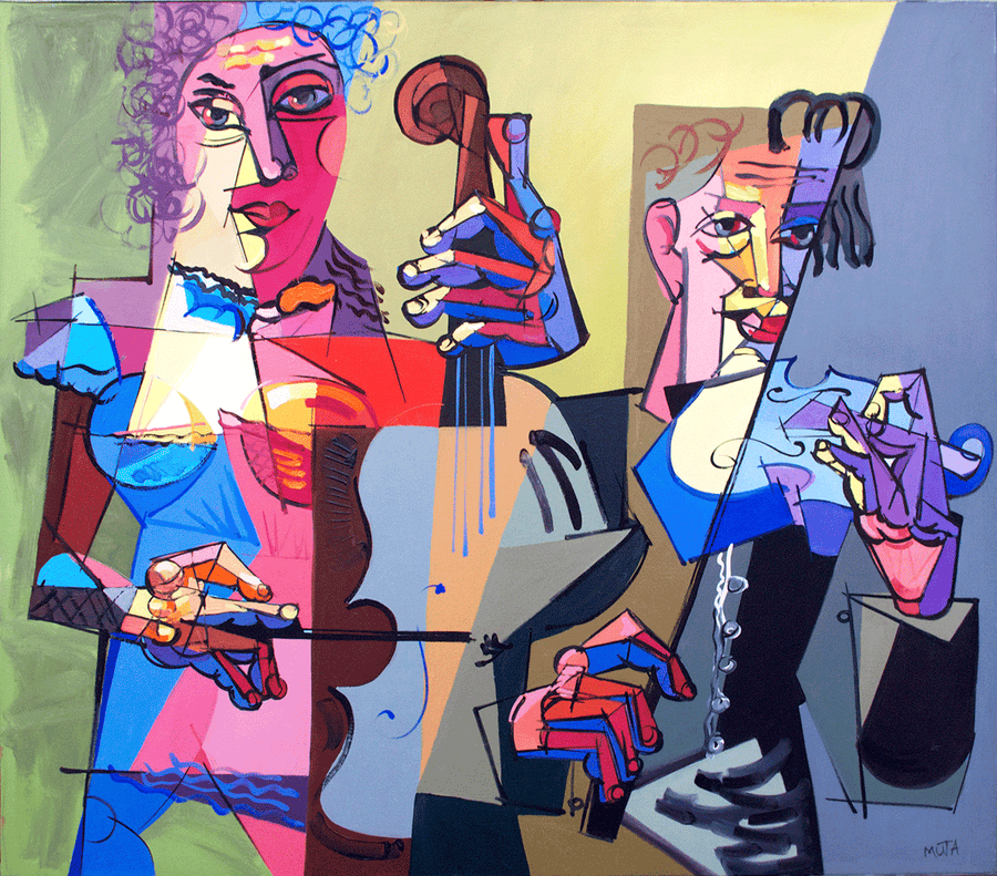Two Violinists - NOBIG.ART