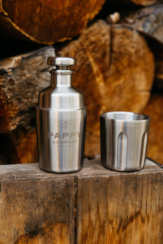 Pappy & Company Custom Engraved Cobranded Flask