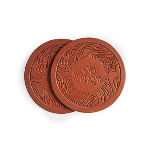 Leather Topo Coasters - 2 Pack