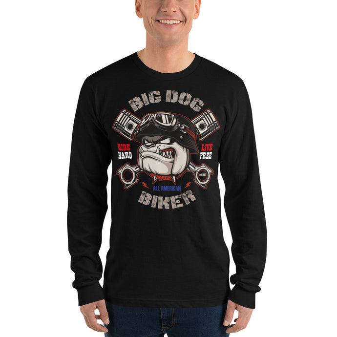 Big Dog Biker's ROAD DAWG Men's Long Sleeve T-Shirt