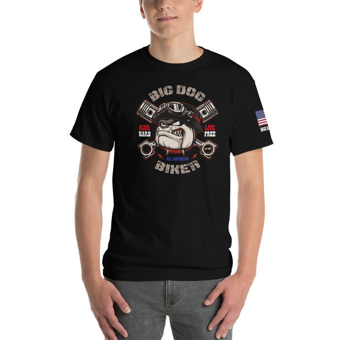 Big Dog Biker's ROAD DAWG Men's Classic Fit Short-Sleeve T-Shirt