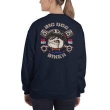 Load image into Gallery viewer, Big Dog Biker's ROAD DAWG Women's Sweatshirt - F&B Designs