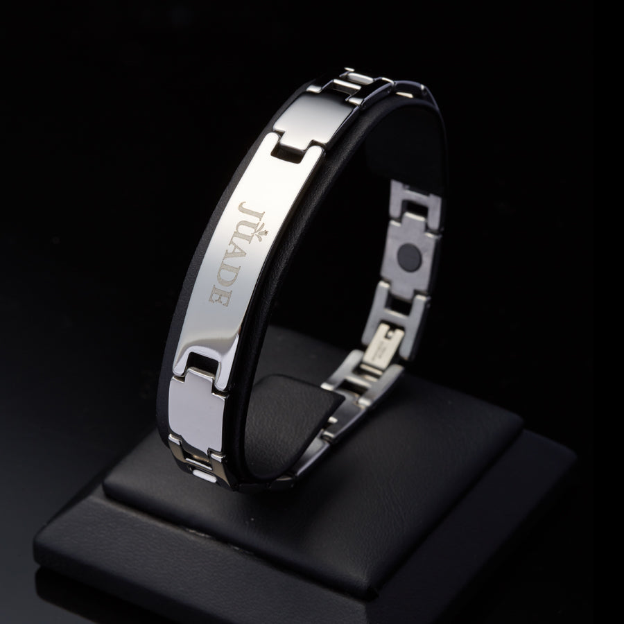 [Juade] Colin Steel Germanium Magnet Energy Bracelet