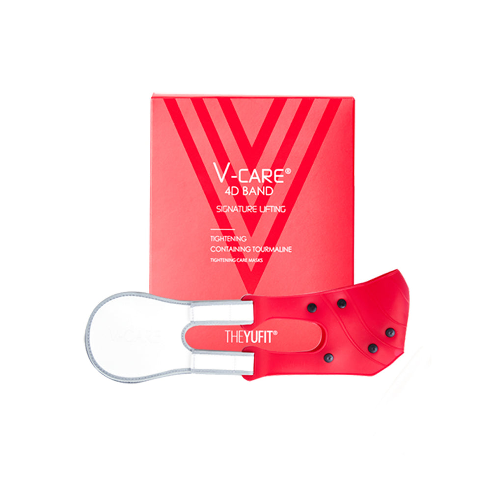 [YuFit] V-Care Face Chin Cheek Lifting Up Belt Band for Slim Shape, Red Color