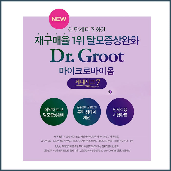 Dr.Groot Microbiome Genesic 7 Scaling Shampoo 250ml x 1/2EA Relieve hair loss symptoms