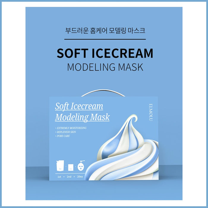 [Elmolu]Soft Ice Cream Modeling Mask SET 20P