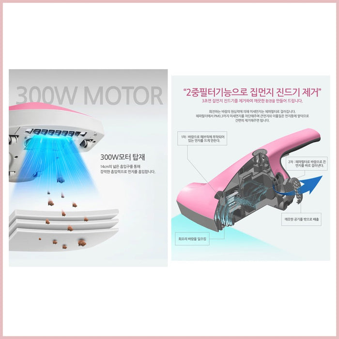 Iroom UV Sterilization Bedding Cleaner SVC-203  300W Motor 253.7nm Wavelength Tick Eradication
