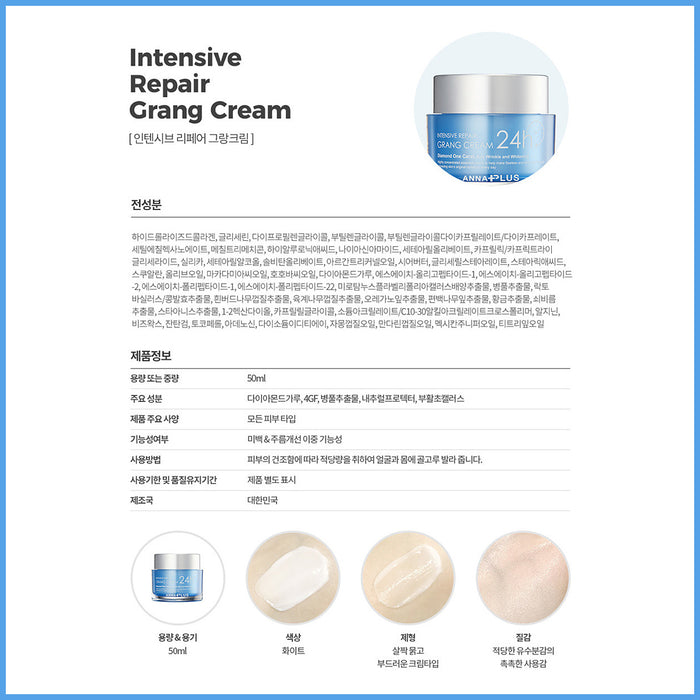 Anna Plus Intensive Repair Grang Cream 24h 50ml Trace care/anti-aging/nutrition supply whitening