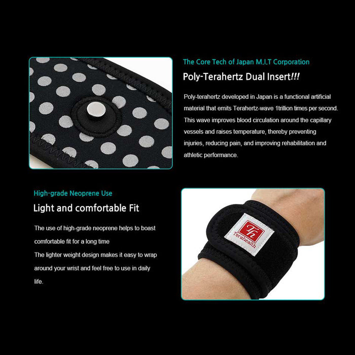 Terahealth Functional Wrist Brace Support to Recover from Carpal Tunnel Syndrome, Arthritis pain