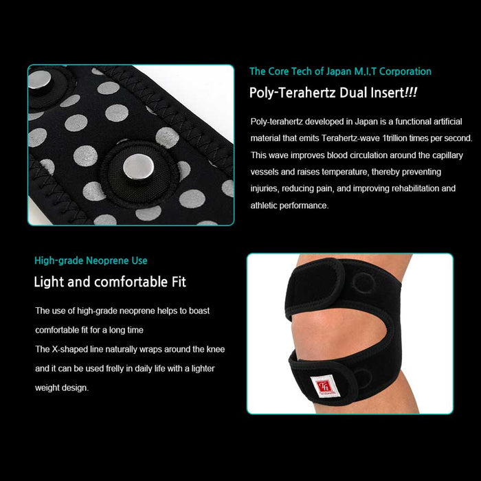 Terahealth knee brace support to recover from Arthritis, Joint pain relief, and Open-Patella.