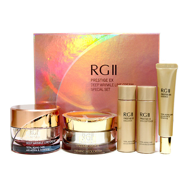 [DANAHAN] RG2 EX Prestige Deep Wrinkle Line Cream 50ml + Premium EX Firming Neck Cream 50ml Set