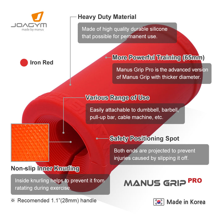 manus grip pro, fat gripz, fat grip, fat bar, thick bar