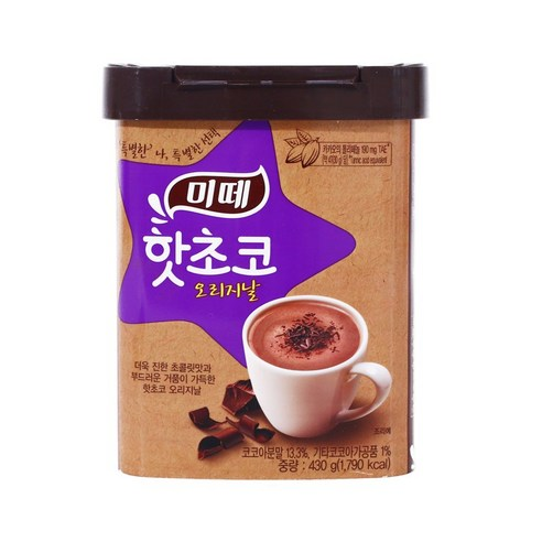 Mitte Hot Chocolate Original (30g x 10T) x 2Box Choco Milk tea Korean Dongsuh Food