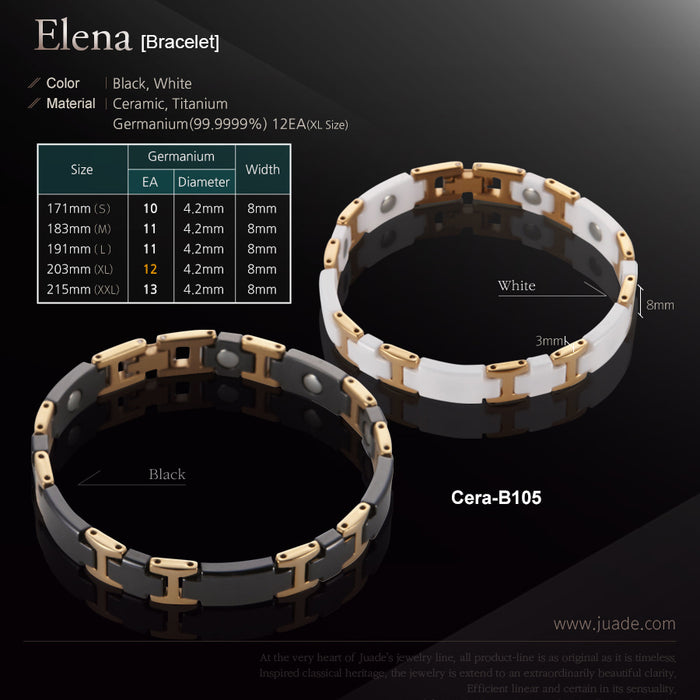 [Juade] Elena Ceramic Germanium Energy Bracelet