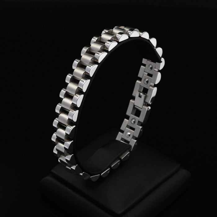 [Juade] Taylor-S Steel Germanium Energy Bracelet