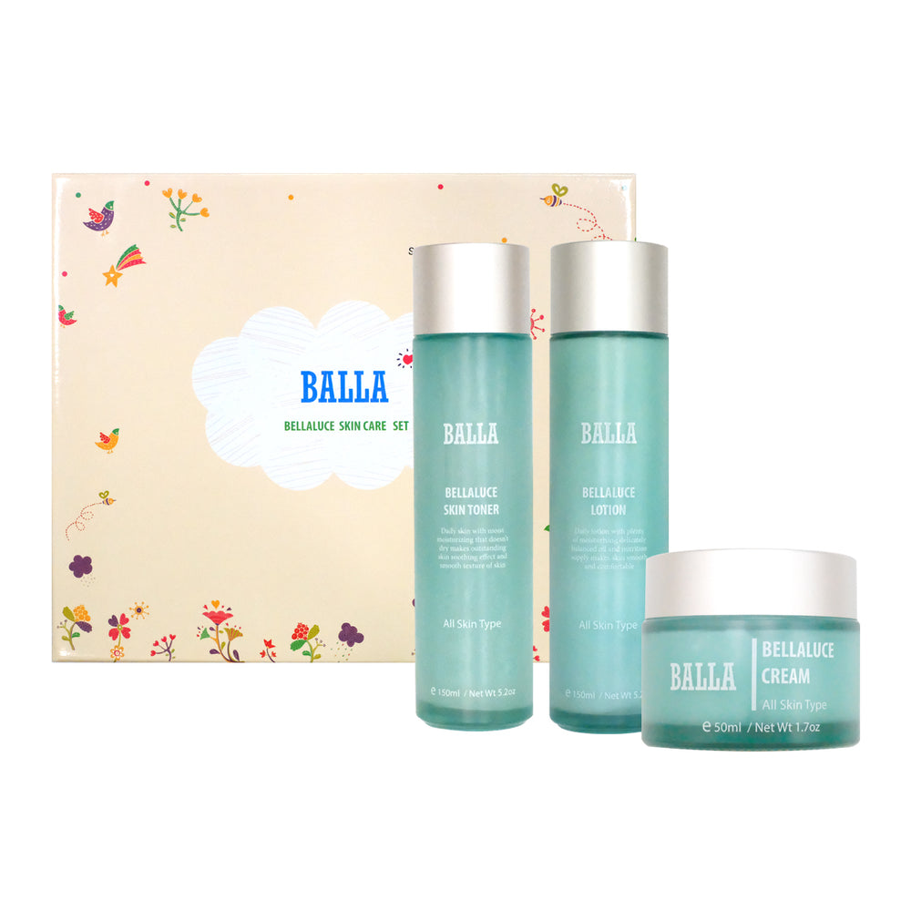 [Bella-Luce] Balla Basic Face Care Skin Toner, Cream, Lotion Cosmetic Set
