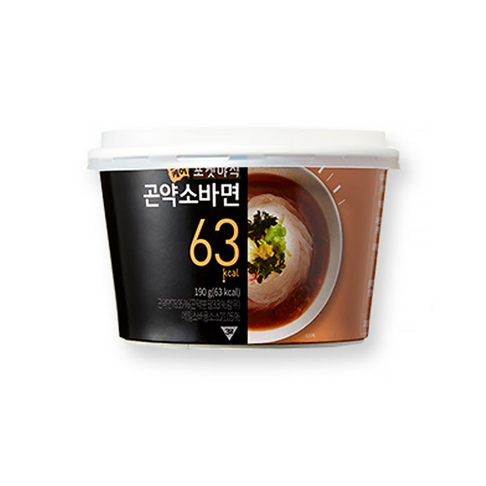 [Korean Food]Three Care Konjac Soba/Bibim/Cold Water Noodles190g x 3/6EA Low calorie Instant Diet
