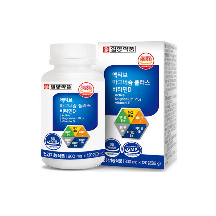 [Ilyang Pharmaceutical] Active Magnesium Plus Vitamin D 800mg x 120 tablets for 4 months